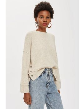 Super Soft Jumper With Popper Side by Topshop