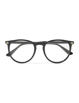 Round Frame Acetate Optical Glasses by Gucci
