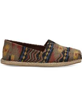 Tribal Woven Blanket Stitch Men's Classics by Toms
