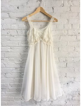 Vintage 50s Wedding Night Boudoir Lingerie Dress / Lace And Sheer Nightwear / 1950s Nightgown by Etsy