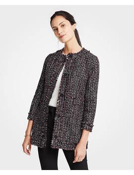 Petite Tweed Ruffle Collar Jacket by Ann Taylor