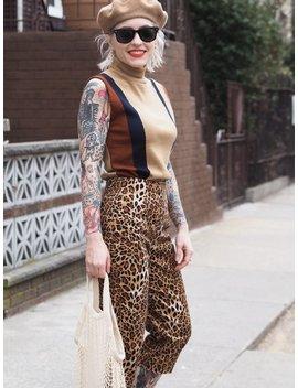 Vintage Fine Wool Sleeveless Turtleneck / Merino Wool Colorblock Sleeveless Sweater by Etsy