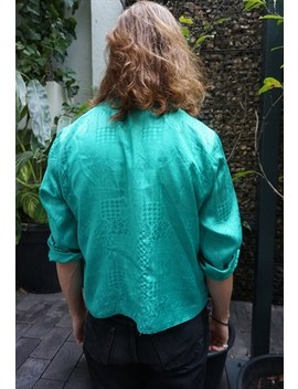 Vintage Neck Tie Green Shirt by Tipsy Gypsy