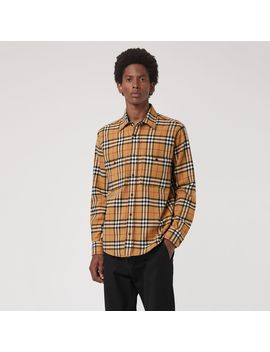 Vintage Check Cotton Flannel Shirt by Burberry
