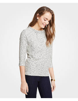 Petite Marled 3/4 Sleeve Top by Ann Taylor