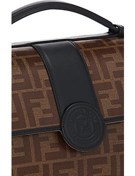 """Double F"" Coated Canvas &Amp; Leather Shoulder Bag by Fendi"