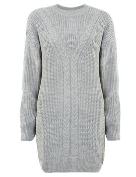 Grey Cable Jumper by Dorothy Perkins