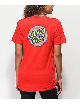 Santa Cruz Coiled Dot Red T Shirt by Santa Cruz Skate