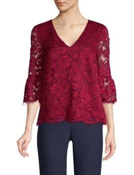 Lace Bell Sleeve Blouse by Draper James