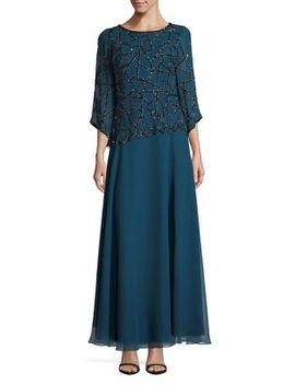 Embellished Long Dress by J Kara
