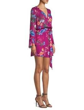 Amanda Floral Print Wrap Dress by Parker
