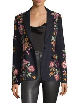 Macey Embroidered Blazer by Alice + Olivia