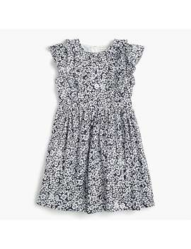 Girls' Ruffle Trimmed Dress In Sparkly Floral by J.Crew