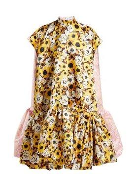Floral Print A Line Duchess Satin Dress by Richard Quinn
