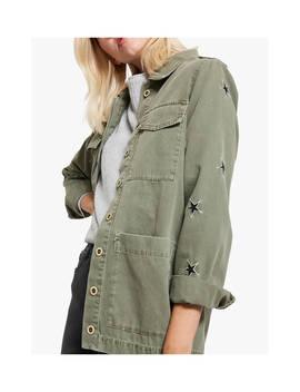 Mint Velvet Khaki Pocket Jacket, Dark Green by Mint Velvet