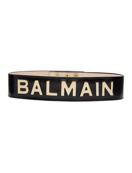 Black High Waist Logo Belt by Balmain