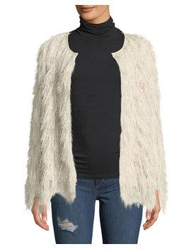 Sasha Shaggy Faux Fur Cardigan by Astr