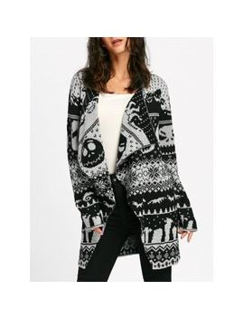"<P>Halloween Skull Knitting Tunic Cardigan</P><I Class=""Icon Down Js Tap Up Down""></I> by Dress Lily"