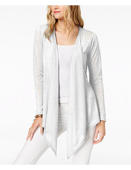 Open Front Cardigan In Regular & Petite Sizes by Michael Michael Kors