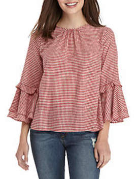Bell Sleeve Woven Peasant Top by Good Luck Gem