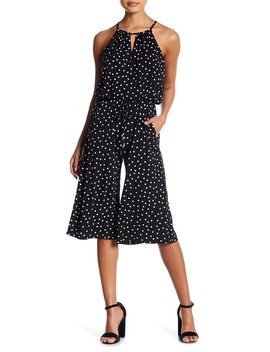 Happy Dot Cropped Jumpsuit (Petite) by London Times