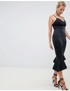 Asos Design Fuller Bust Scuba Cami Pephem Midi Dress by Asos Design