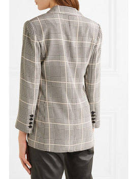 Taryn Checked Silk Crepe Blazer by L'agence