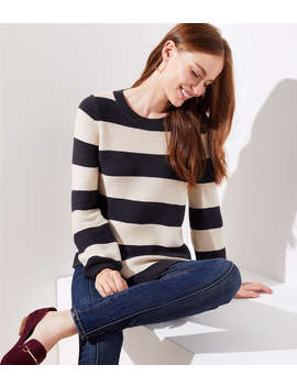 Striped Swingy Sweater by Loft
