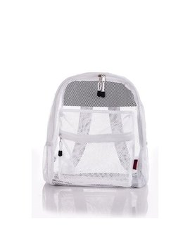 Clear Mesh Backpack For Kids Men Women Transparent/See Through by Bravo!