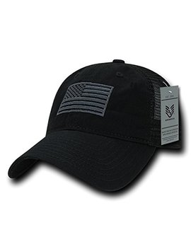 Rapid Dominance Soft Fit American Flag Embroidered Cotton Trucker Mesh Back Cap by Rapid Dominance