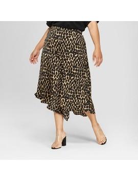 Women's Plus Size Seamed Asymmetric Hem Slip Skirt   Who What Wear™ by Who What Wear