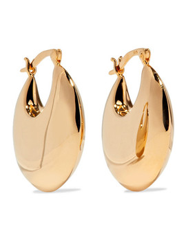 Cowbell Gold Vermeil Hoop Earrings by Sophie Buhai