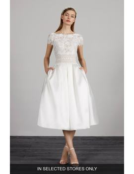 Miami Lace & Mikado Tea Length Dress by Pronovias