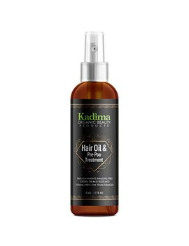 Kadima Hair Oil And Pre Poo Treatment Infused With 8 Amazing Oils. Deeply Moisturize Damage And Brittle Hair 100 Percents Essential Oils 4 Oz by Kadima Organic Beauty Products