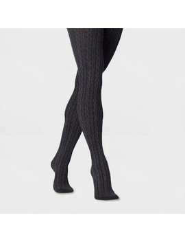 Women's Cable Sweater Tights   A New Day™ Gray by A New Day™