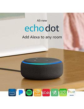 All New Echo Dot (3rd Gen)   Smart Speaker With Alexa   Charcoal by Amazon