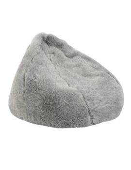 John Lewis & Partners Faux Fur Bean Bag, Grey by John Lewis &Amp; Partners