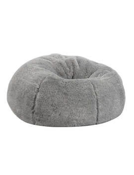 John Lewis & Partners Faux Fur Extra Large Bean Bag, Grey by John Lewis &Amp; Partners