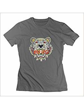 Kele Women's Kenzo Cotton Round Collar T Shirt,S,Deep Heather by Amazon