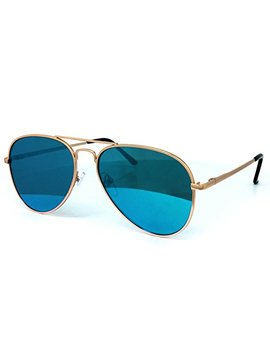 O2 Eyewear 97025 Premium Oversized Flat Aviator Mirrored Sunglass Womens Mens by O2 Eyewear