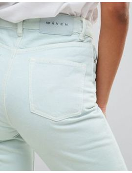 Waven Elsa Pale Mint Mom Jeans by WÅven