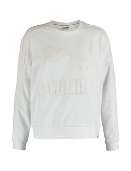 White Embroidered Jumper by Puma
