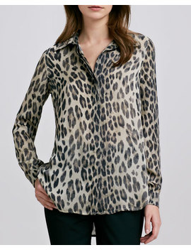 Leopard Print Blouse by L'agence