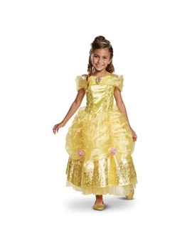 Toddler Girls' Disney Princess Belle Deluxe Halloween Costume 3 T 4 T by Shop This Collection