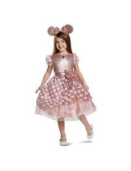 Toddler Girls' Minnie Mouse Rose Gold Deluxe Halloween Costume 3 T 4 T by Mickey Mouse & Friends