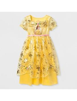 Toddler Girls' Disney Princess Belle Nightgown   Yellow by Disney Princess