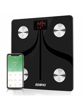 Bluetooth Smart Body Fat Scale By Renpho, Usb Rechargeable Digital Bathroom Weight Scale With I Os & Android App Wireless Body Fat Scale For Body Weight, Body Fat Percents, Bmi, Water, Muscle Mass,... by Renpho