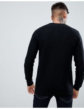 Pull&Bear Jumper In Black by Pull&Bear