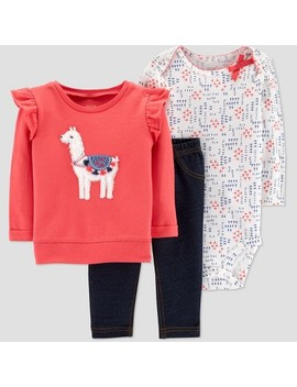 Baby Girls' Llama 3pc Set   Just One You® Made By Carter's Pink by Just One You Made By Carter's