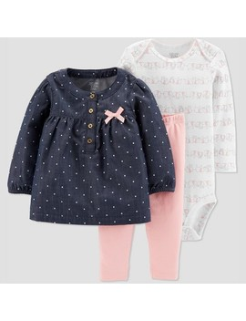 Baby Girls' Elephant 3pc Set   Just One You® Made By Carter's White by Just One You Made By Carter's